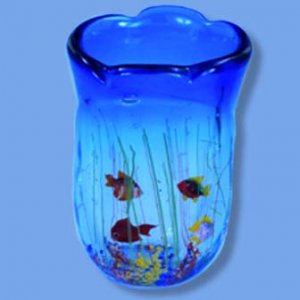 Vase Aquarium w/Four Fish