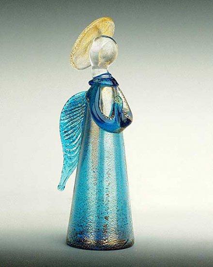 Murano Glass Angel Aqua