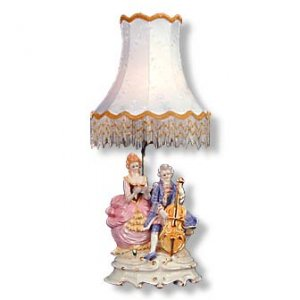 Capodimonte Couple Lamp