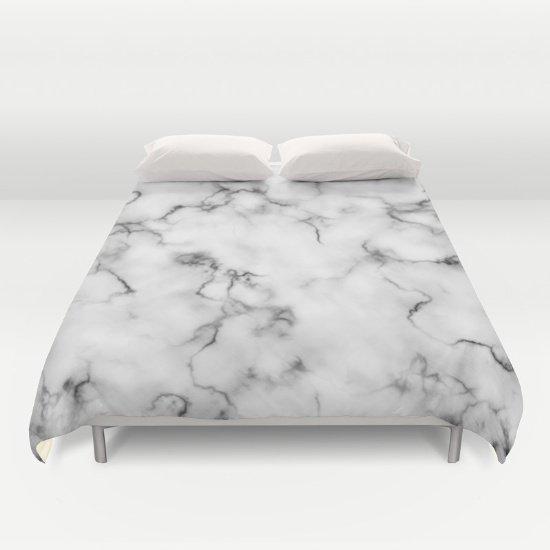 Marble Duvet Cover Full Size 2g6LCpj