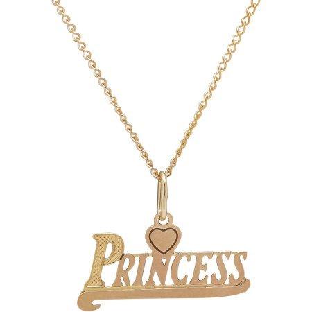 "10kt Yellow Gold Princess Pendant, 13"""