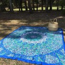 BLUE PSYCHEDELIC STAR MANDALA HIPPIE WALL HANGING