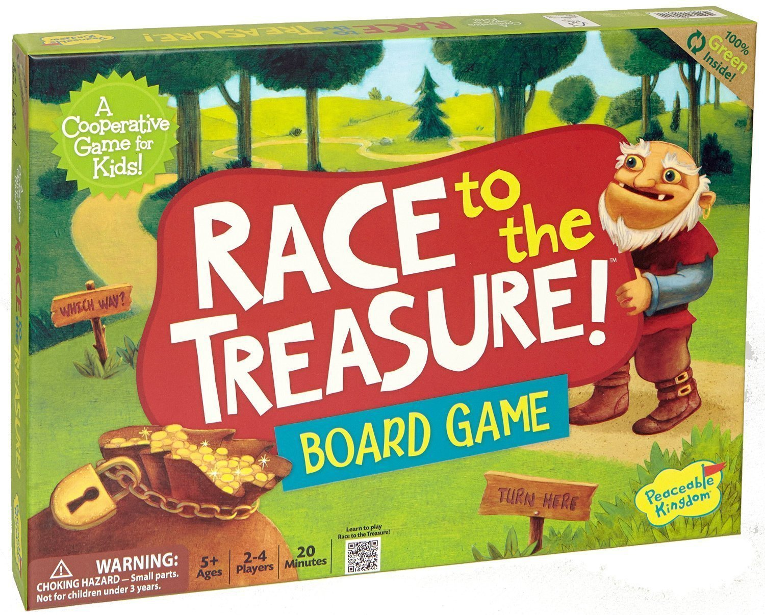 Peaceable Kingdom Race to the Treasure Award Winning Cooperative Kids Game