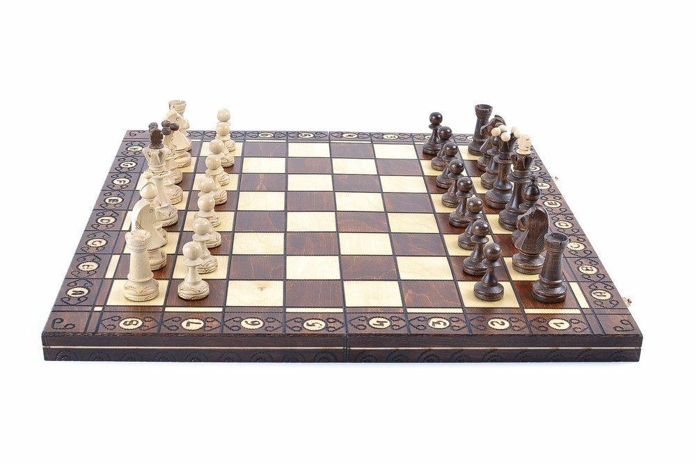 Wegiel Consul Chess Pieces Board European Handmade Wooden Game Chess Set