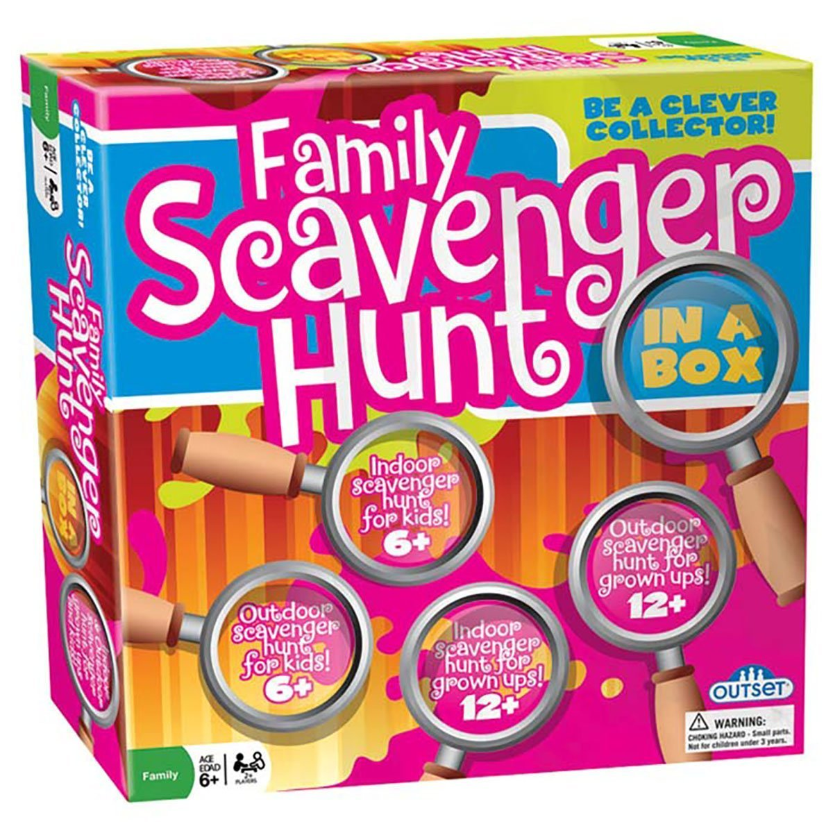Kid's and Family Party Game Scavenger Hunt - Family Scavenger Hunt in a Box