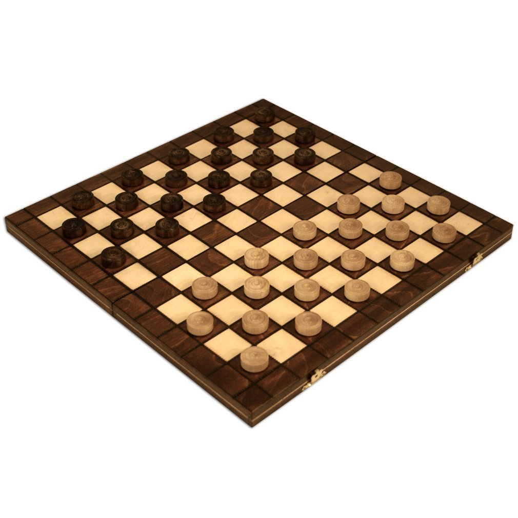Checkers Set in Folding Wooden Case