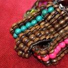 Teal Wood Bracelets