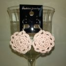 Pink Doily Earrings