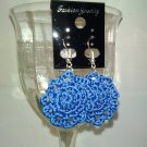 Blue Doily Earrings