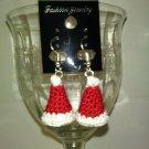 3D santa hat earrings