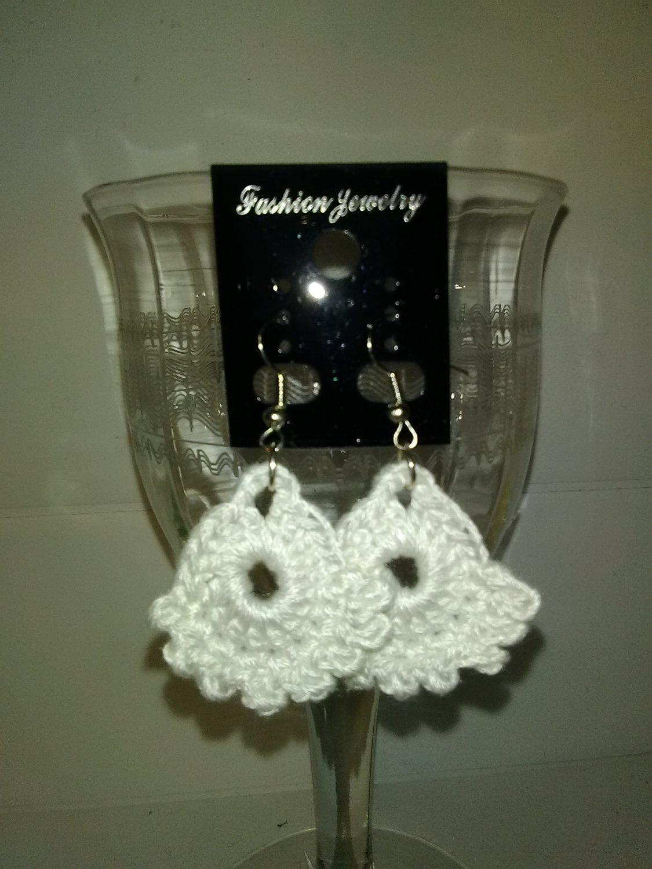 White Dainty Earrings