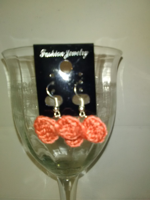 Pretty Peach Bow Earrings