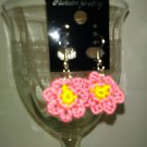 Little Pink Flower Earrings