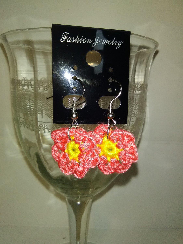 Little Coral Flower Earrings