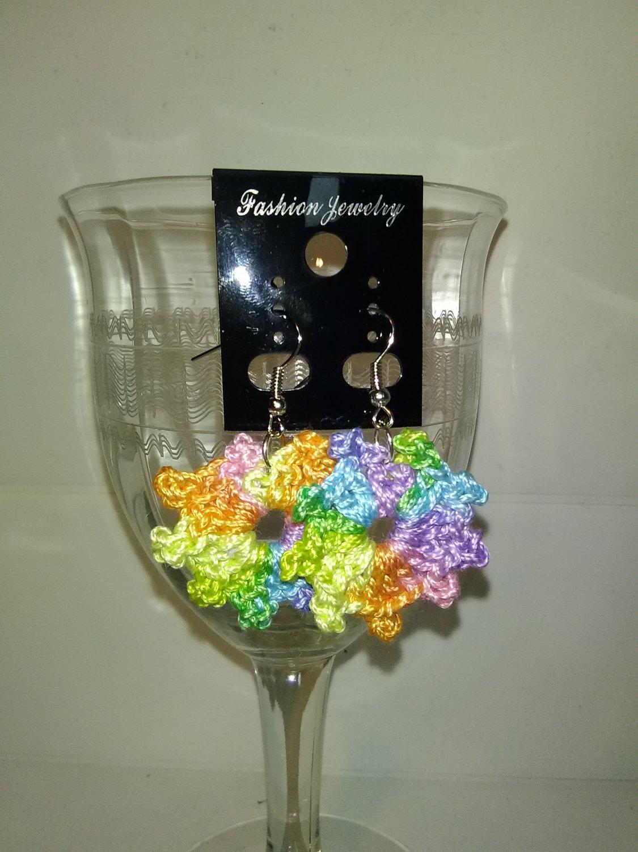 Multi-colored Circle Earrings