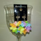 Multi-colored Circle Earrings