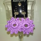 Purple Circle Earrings
