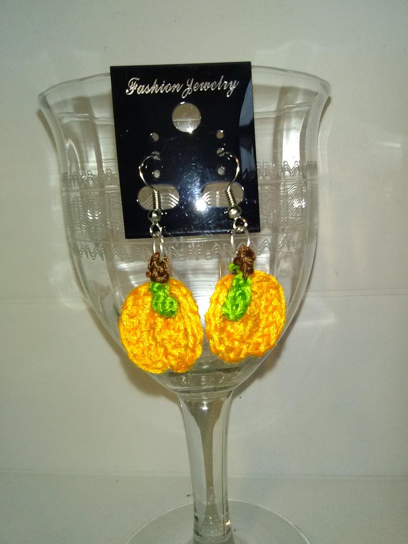 Pumpkin With Leaf Earrings