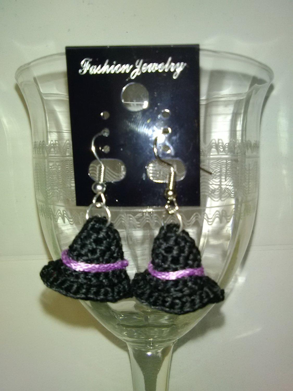 3D Witch Hat Earrings