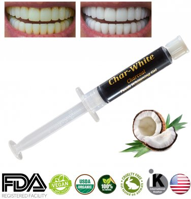 New Char-White Activated Charcoal Gel for Teeth Whitening