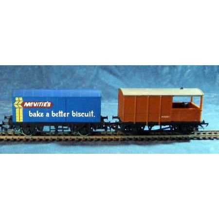2 x OO Gauge Wagons Hornby McVities and 20 Ton Brake Van