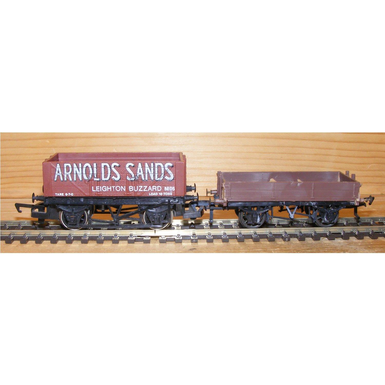 00 Gauge Arnolds Sands Coal Wagon and Flat Wagon