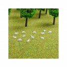 N Gauge Sheep Flock of a Dozen White Sheep for Model Railway / Railroad