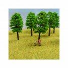 N Gauge Trees Pack of 5 Green Trees for N Scale Model Railway / Railroad