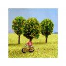 N Gauge Trees Pack of 5 Yellow Flowering Trees for N Scale Model Railway