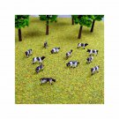 N Gauge Cows Herd of a Dozen Friesian Black and White Cows for Model Railway / Railroad