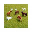 00 / HO Gauge Brown & White Horses for Model Railway Railroad - Pack of 8
