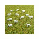 00 / HO Gauge Sheep and Sheepdogs for Model Railway / Railroad - Pack of 12
