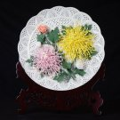 GoRigen Chrysanthemum chrysanthemum ornament plate to make pure handmade porcelain flowers