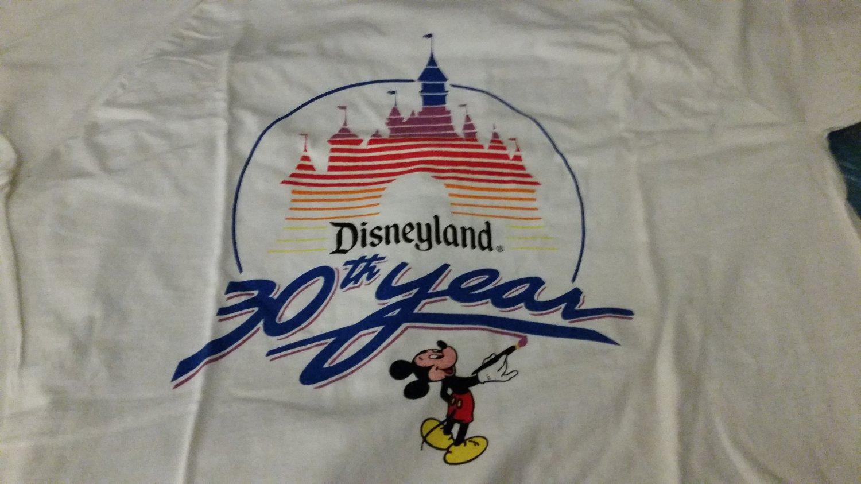 30th Anniversary White Disneyland Short Sleeved T Shirt XL New White