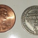 Knoxville Queen Harvey's Casino & Hotel 5 cent Game Token - No Date - Used