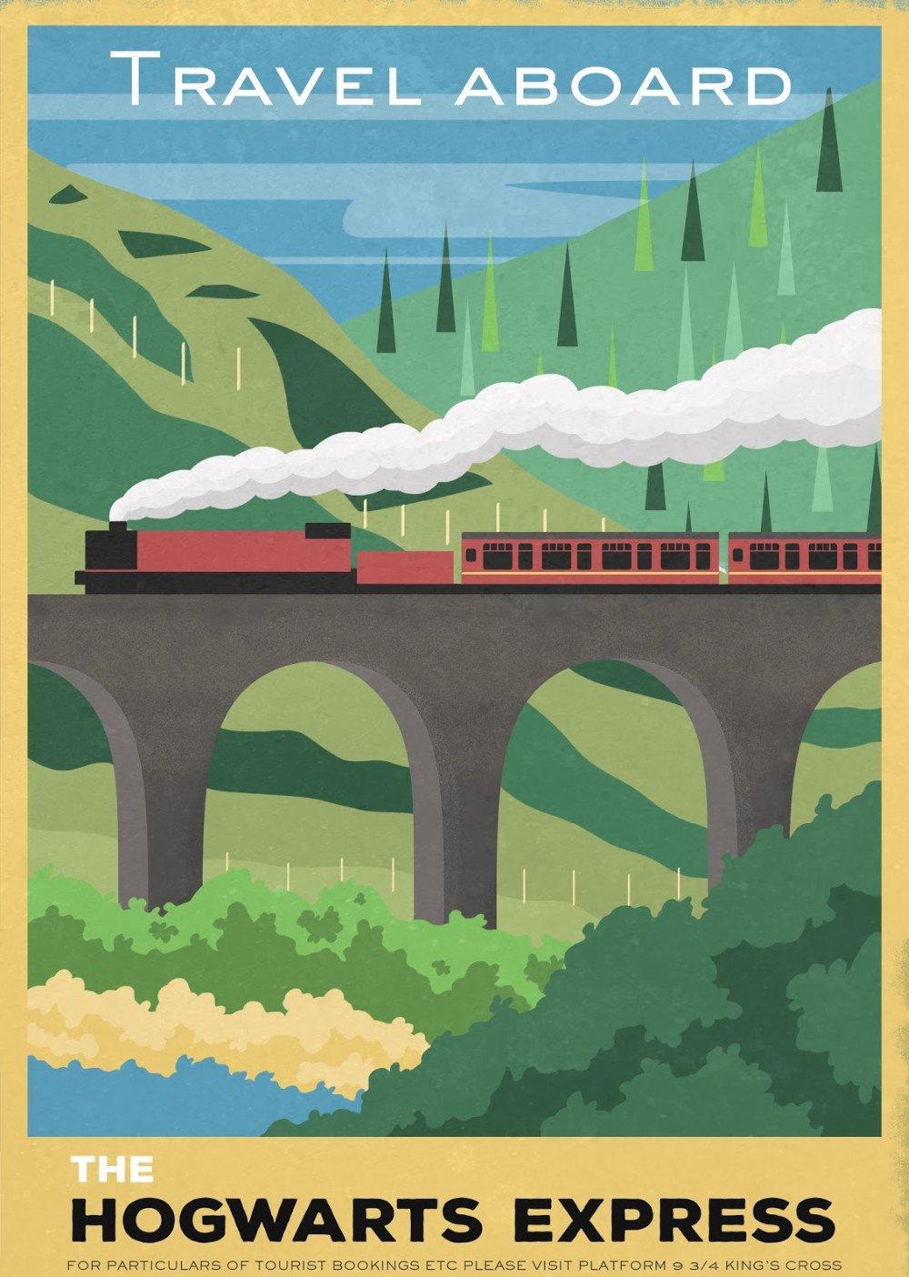 Hogwarts Express Vintage Poster # 3