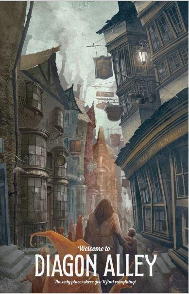Diagon Alley Vintage Poster