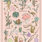 Harry Potter Herbology Vintage Poster