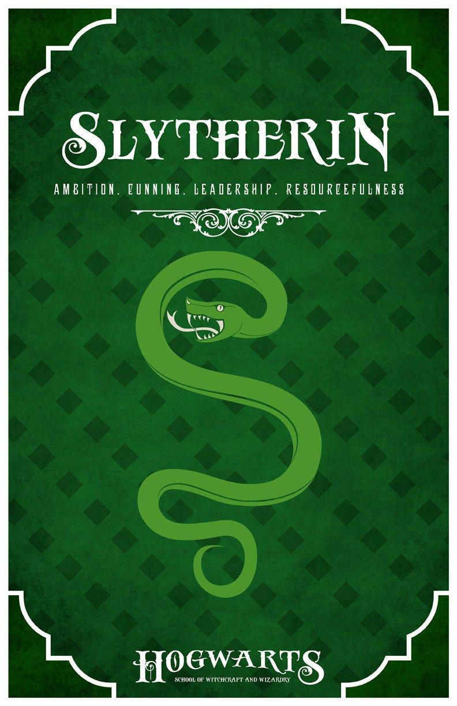 Slytherin Vintage Poster