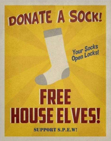 House Elves Vintage Poster