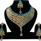Indian Bridal Wedding Jewelry, Bollywood Bridal Jewellery Necklace Set Turquoise