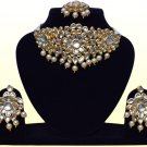 Indian Bridal Wedding Meena Kundan Jewelry, Bollywood Modern Partywear Jewellery Necklace Set