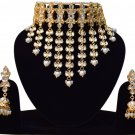 Choker Pearl Bollywood Luxury Bridal Jewelry, Indian Jewelry Neclace Set, Traditional Kundan Jewelry