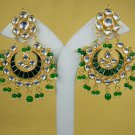Trendy Statement Earrings, Chandelier Bridal Earrings, Stud Earrings, Dangle Earrings Meena Kundan