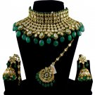 Kundan Premium Jewellery AC Polki Studded Jadau Necklace set Pearls 18k Gold Plated