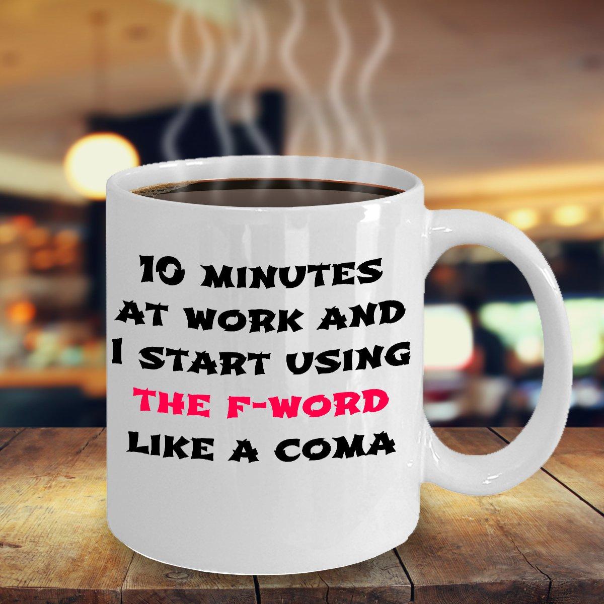 FUNNY F-WORD 11OZ MUG - Novelty Ceramic Coffee Tea Cup