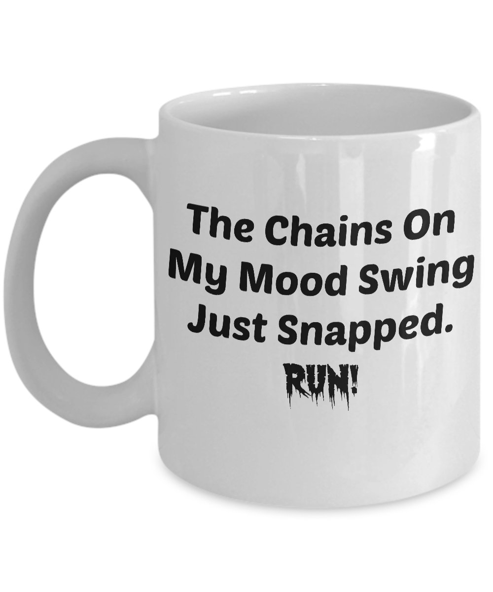 Funny MOOD SWING CHAINS 110Z Mug Novelty Ceramic Coffe Tea Cup Ideal Gift