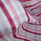 Silk cotton organza organdy fabric pink stripe sheer summer wear curtain fabric