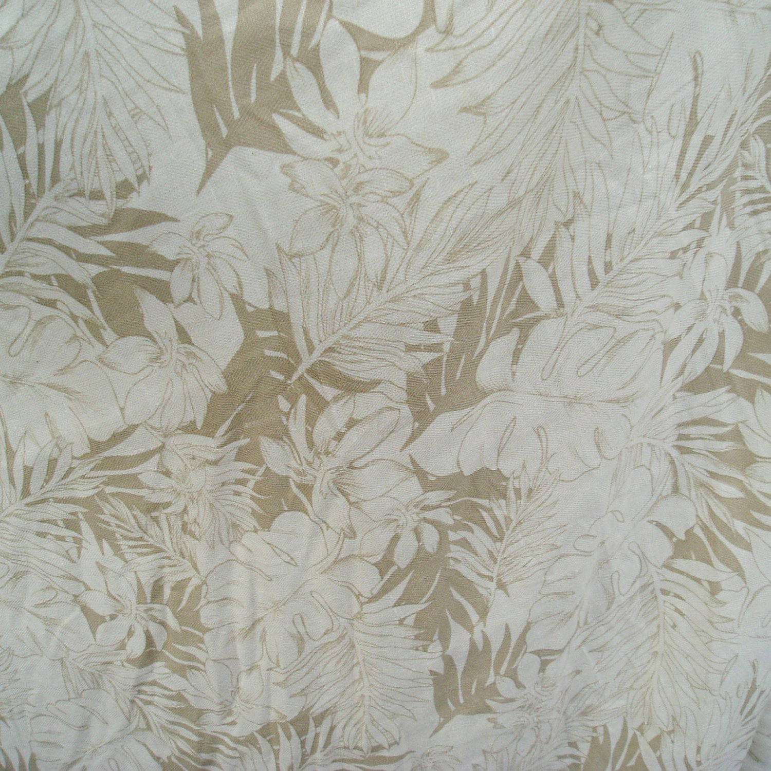 spun silk fabric textured leaf motif sell by meter