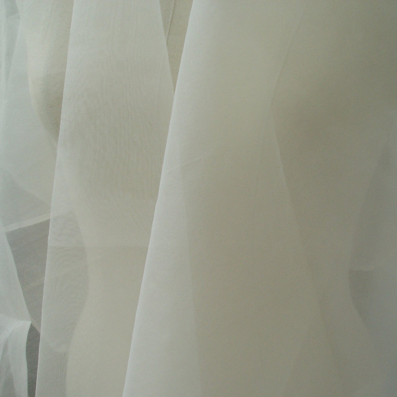 pure white silk organza fabric by the yard  110cm width online store